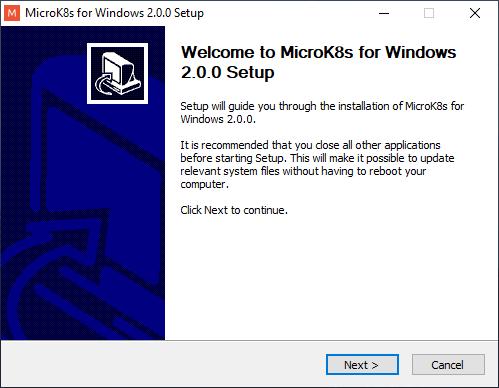 mikrok8s installer