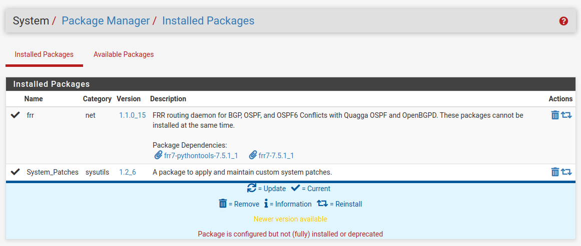 Install BGP