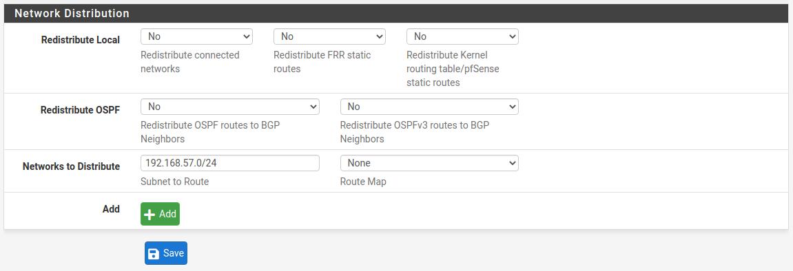 BGP Site A