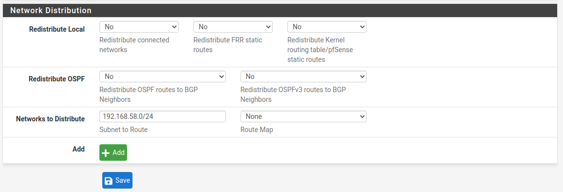 BGP Site B
